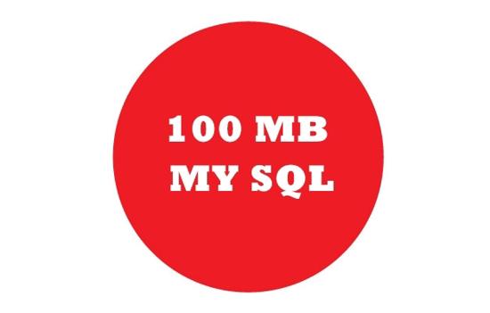 100 MB MySQL (1 YIL) resmi