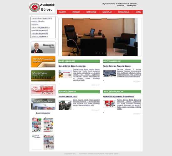Picture of LAWYER'S OFFICE WEBSITE