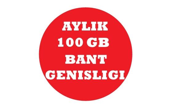 Aylık 100 GB Bant Genişliği resmi