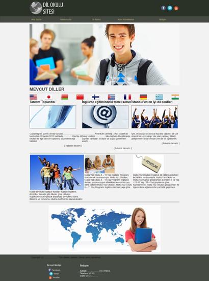 Picture of LANGUAGE SCHOOL WEBSITE