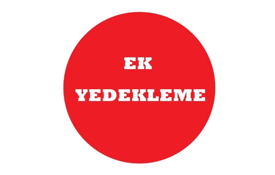 EK YEDEKLEME (1 YIL) resmi
