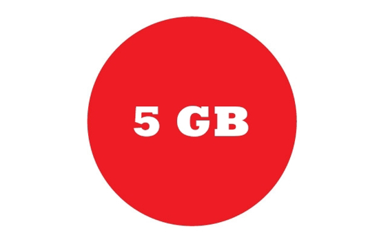 Picture of 5 GB of Web Space per Year