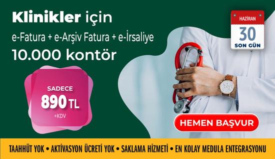 Klinikler için E-Fatura + E-Arşiv Fatura + E-Risaliye resmi